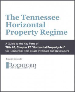 The Tennessee Horizontal Property Regime eBook
